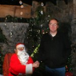 Shaun with Father Christmas